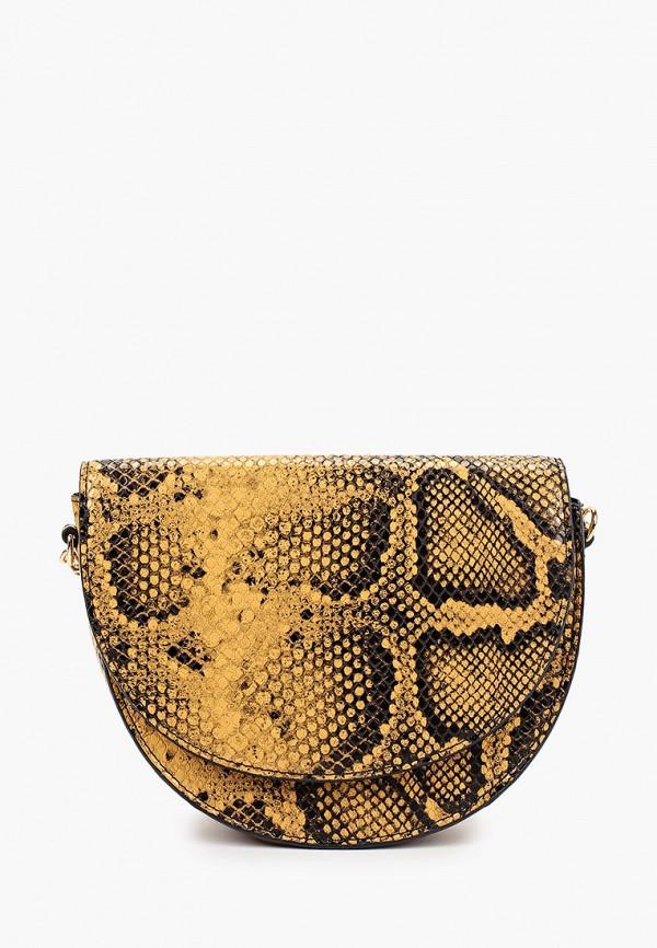 женская сумка mango, желтая