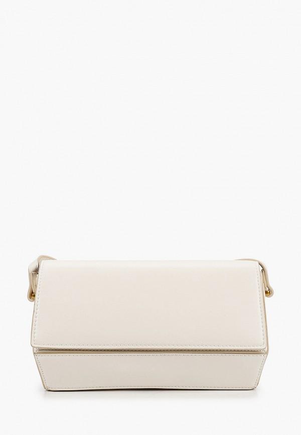 женская сумка через плечо mango, белая
