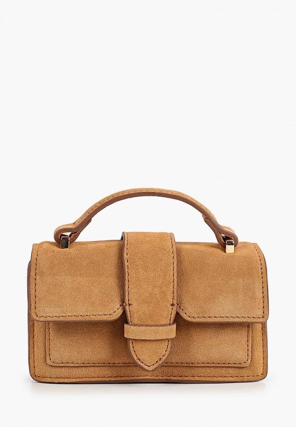 женская сумка через плечо mango, бежевая