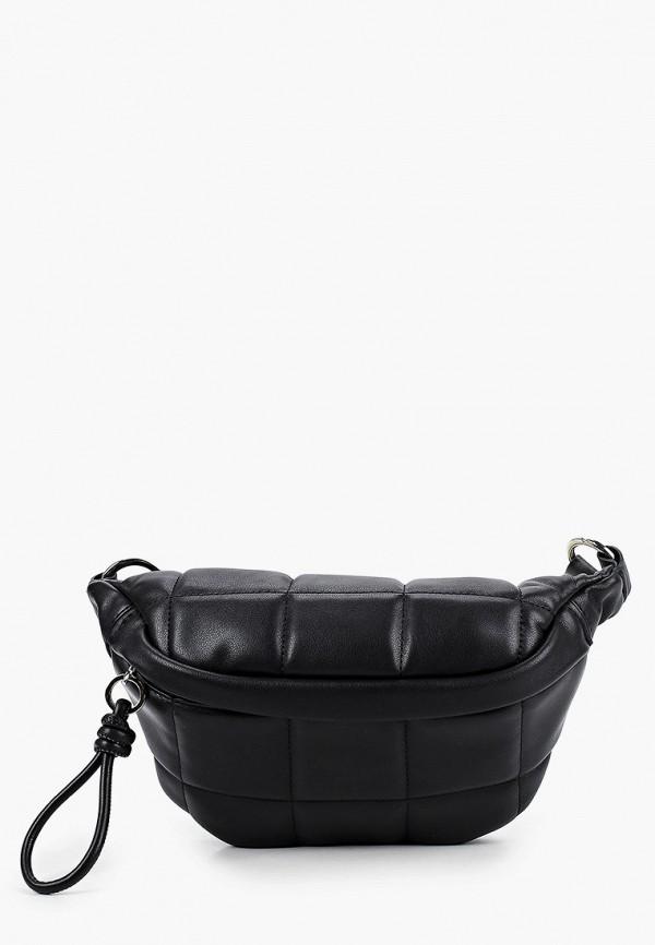 женская поясные сумка mango, черная