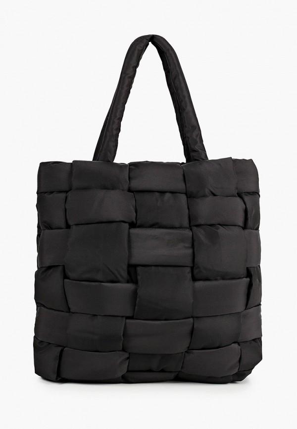 женская сумка-шоперы mango, черная
