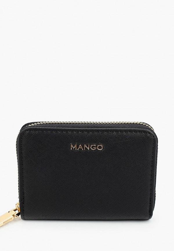женский кошелёк mango, черный