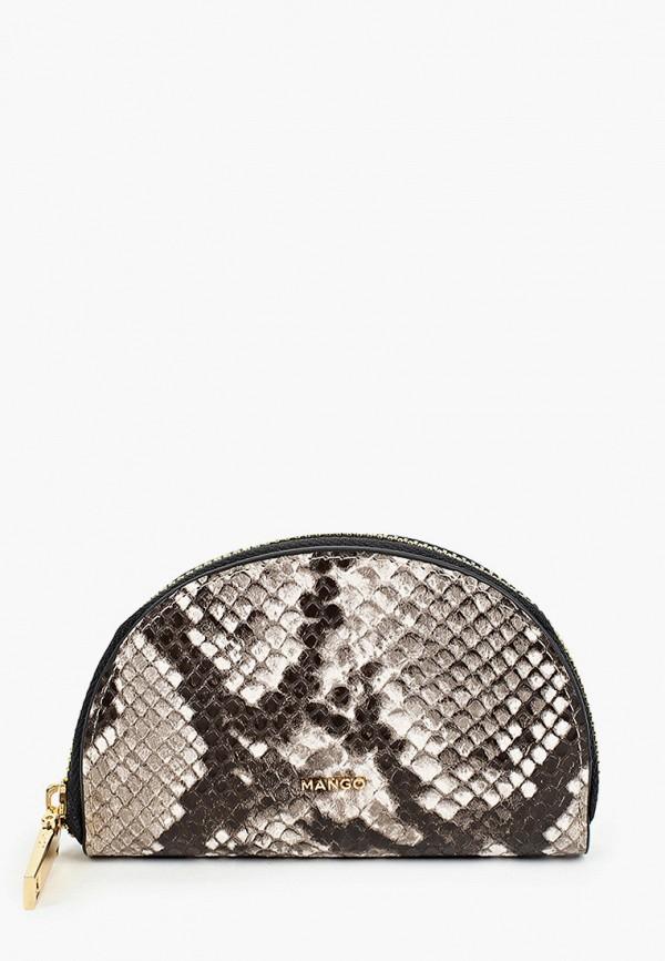женский кошелёк mango, коричневый