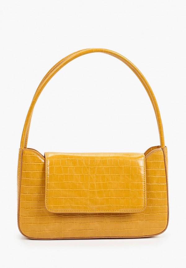 женская сумка через плечо mango, желтая