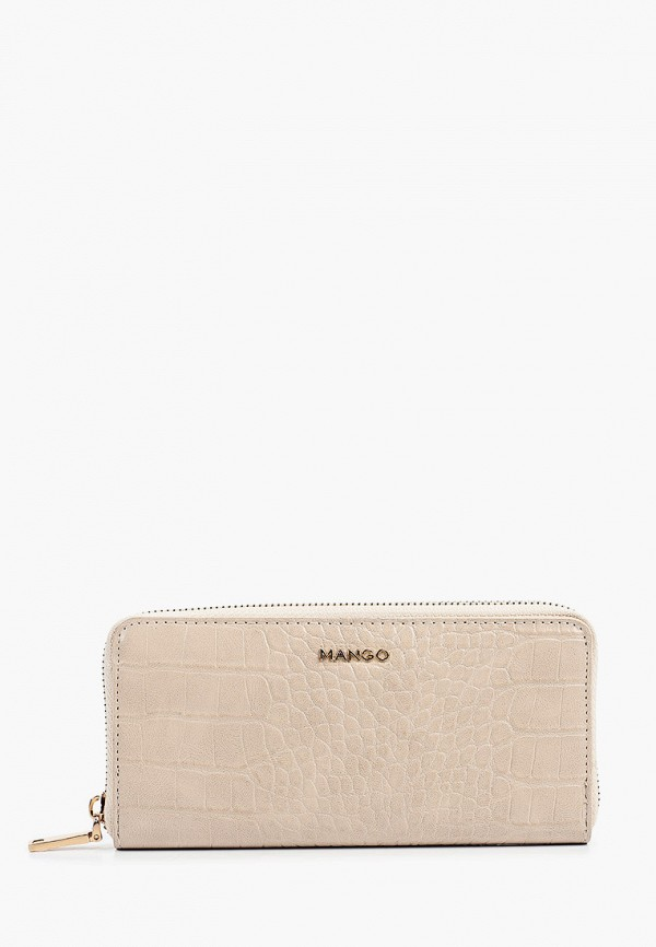 женский кошелёк mango, бежевый