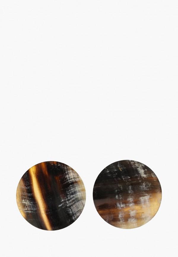 Фото - женские серьги, клипсы или пирсинг Mango серого цвета