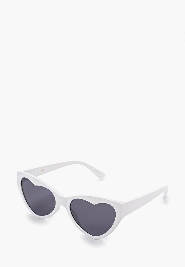 женские солнцезащитные очки mango, белые