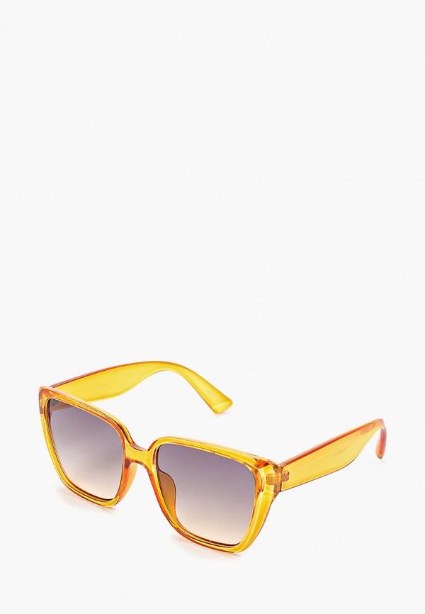 женские солнцезащитные очки mango, оранжевые