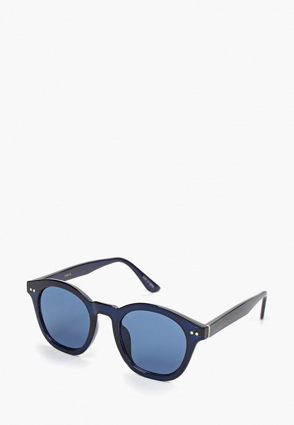 Фото - Очки солнцезащитные Mango синего цвета