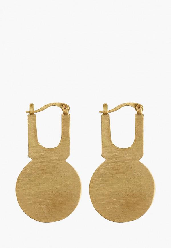 Фото - женские серьги, клипсы или пирсинг Mango золотого цвета