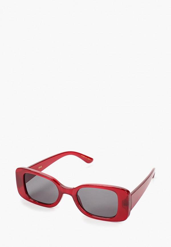 женские солнцезащитные очки mango, красные