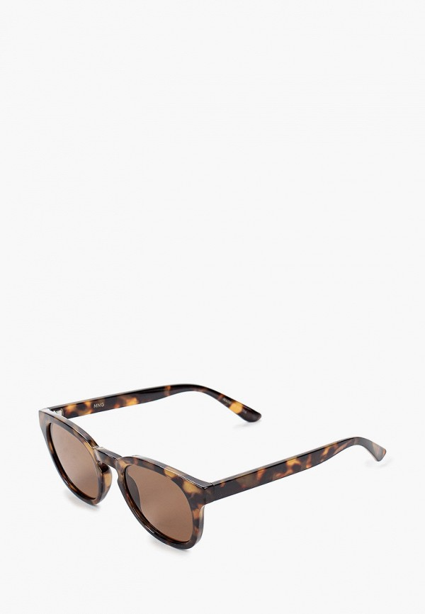 женские солнцезащитные очки mango, коричневые