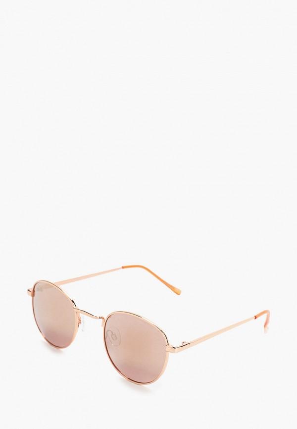 женские квадратные солнцезащитные очки mango, золотые