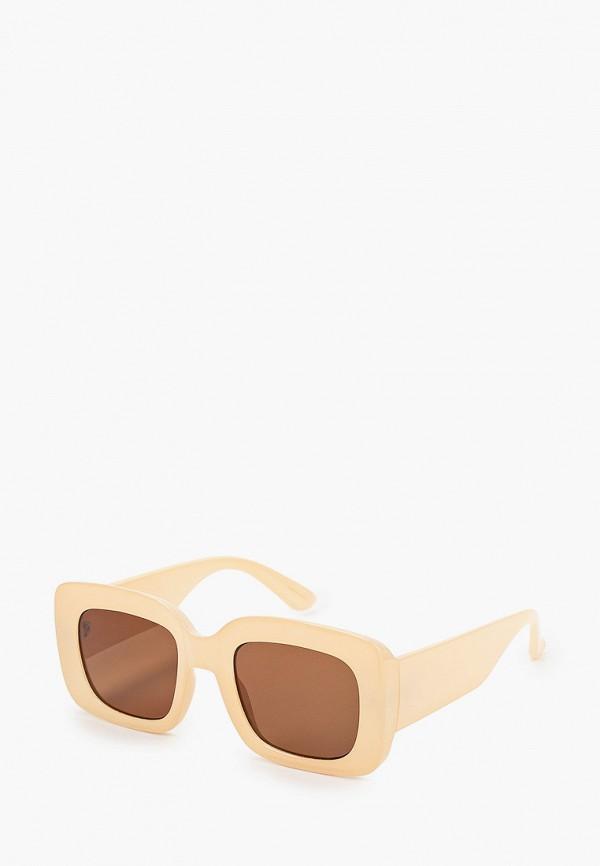 женские солнцезащитные очки mango, бежевые