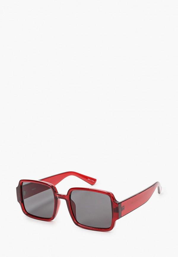 женские солнцезащитные очки mango, бордовые