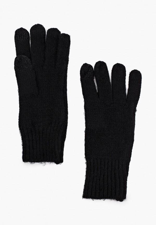 женские текстильные перчатки mango, черные