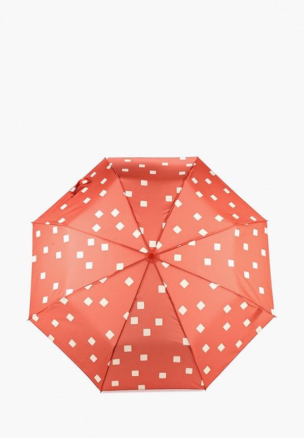 женский складные зонт mango, оранжевый