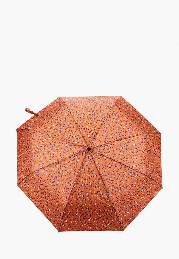 женский складные зонт mango, коричневый