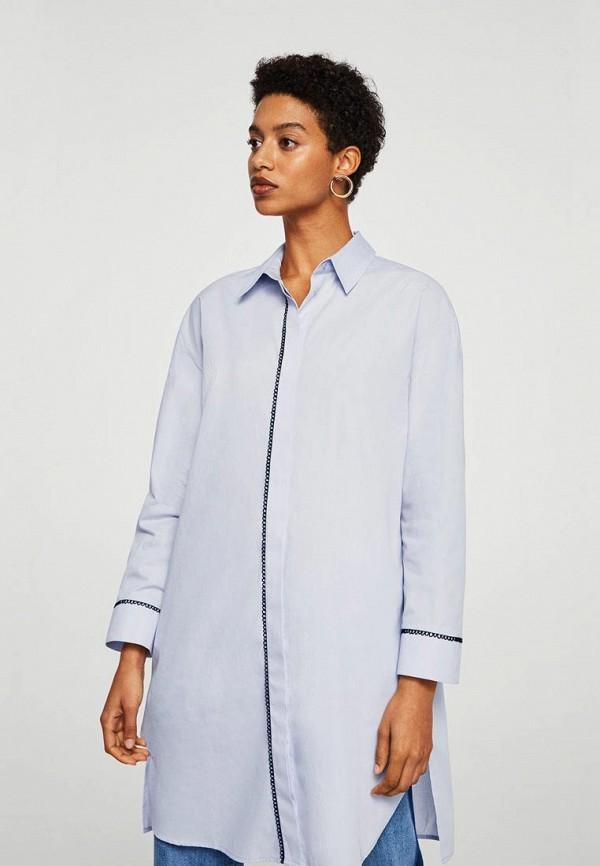 Купить Рубашка Mango, - PAO-A, ma002ewbovb1, голубой, Осень-зима 2018/2019