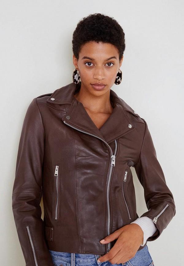 Купить Куртка кожаная Mango, - PERFECT3, MA002EWBQYJ3, коричневый, Осень-зима 2018/2019