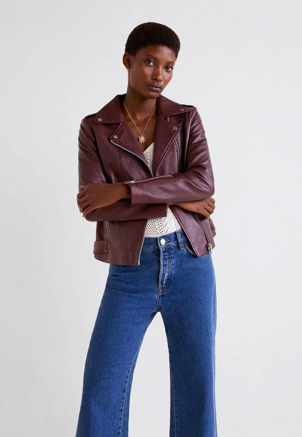 Купить Куртка кожаная Mango, - PERFECT3, MA002EWBQYT9, бордовый, Осень-зима 2018/2019