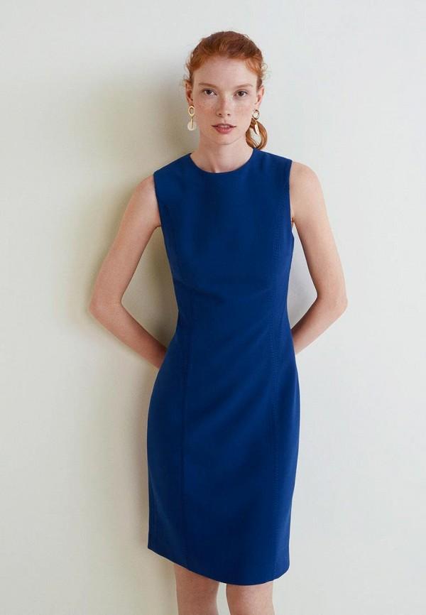 Купить Платье Mango, - JOS, MA002EWBUDQ7, синий, Осень-зима 2018/2019