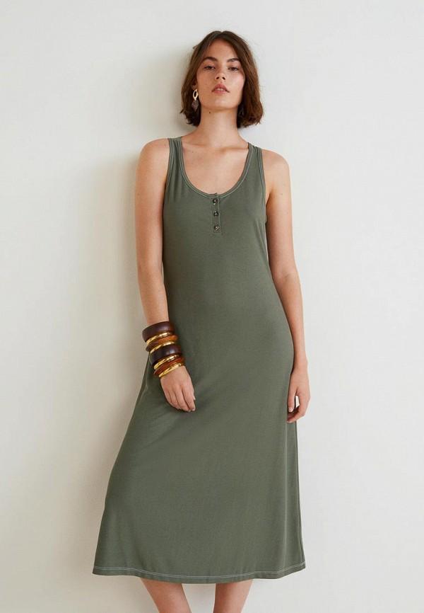 Купить Платье Mango, - SKINTI, MA002EWBUDY2, хаки, Осень-зима 2018/2019