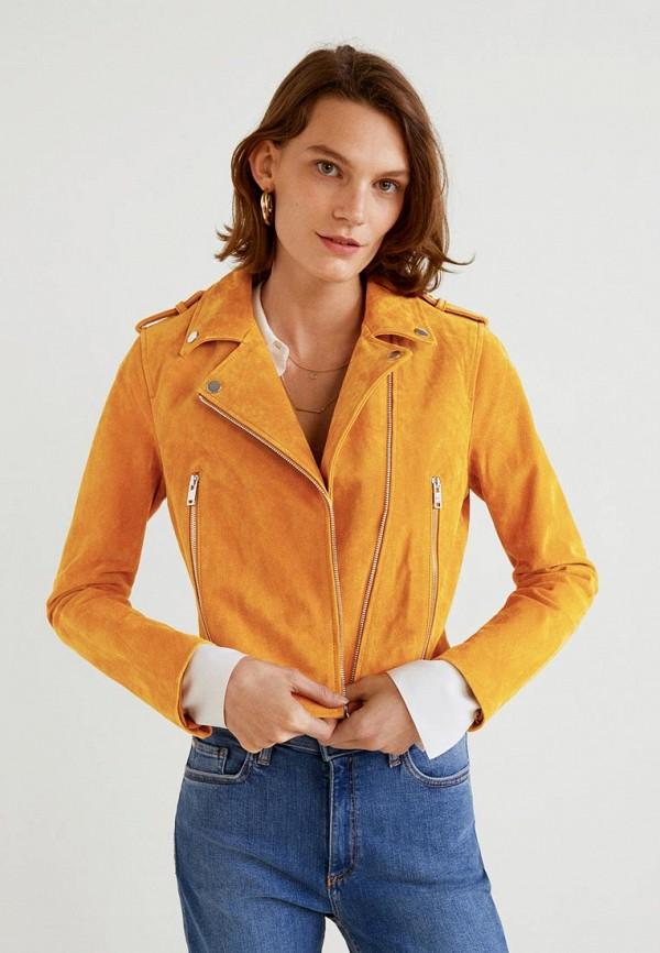 Купить Куртка кожаная Mango, - TEXAS, MA002EWBVXC6, желтый, Осень-зима 2018/2019