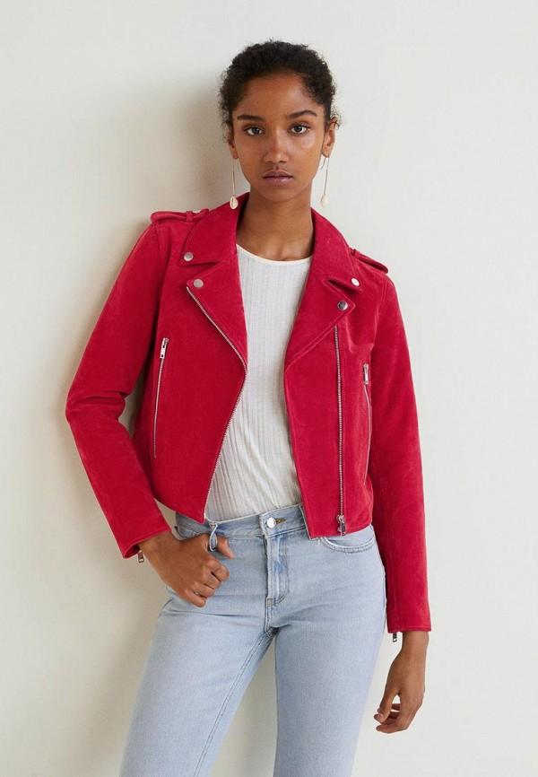 Купить Куртка кожаная Mango, - TEXAS, ma002ewbvxf9, красный, Осень-зима 2018/2019