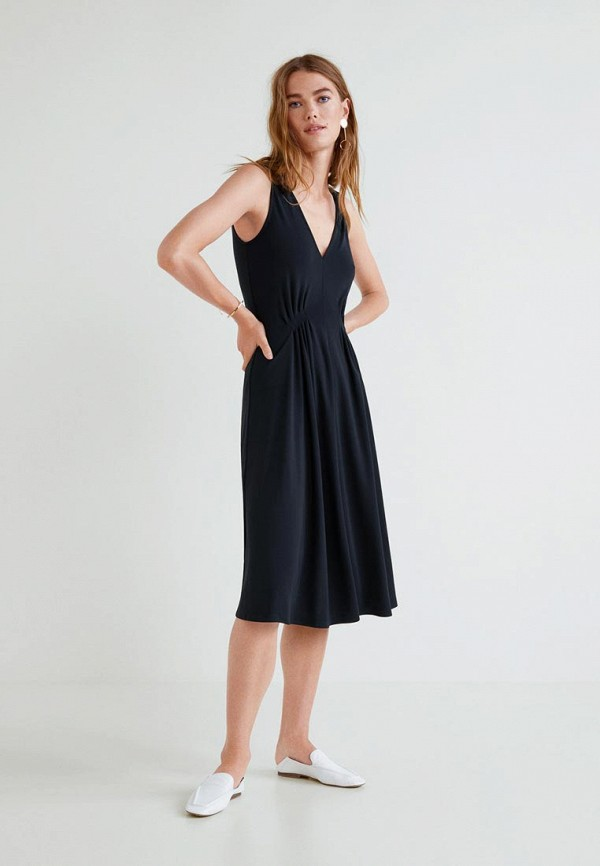 Купить Платье Mango, - DOBLE, MA002EWCAQK5, черный, Осень-зима 2018/2019
