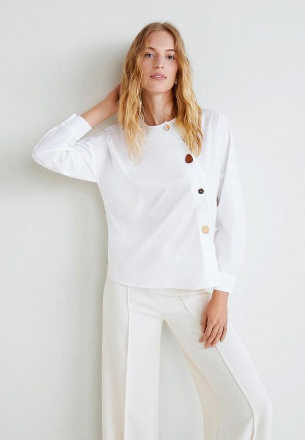 Купить Блуза Mango, - BUTTON, MA002EWCARQ1, белый, Осень-зима 2018/2019