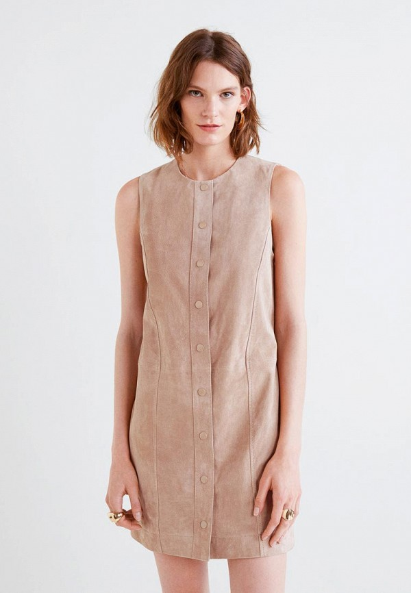 Купить Платье Mango, - FLORIDA, MA002EWCBVH6, бежевый, Осень-зима 2018/2019
