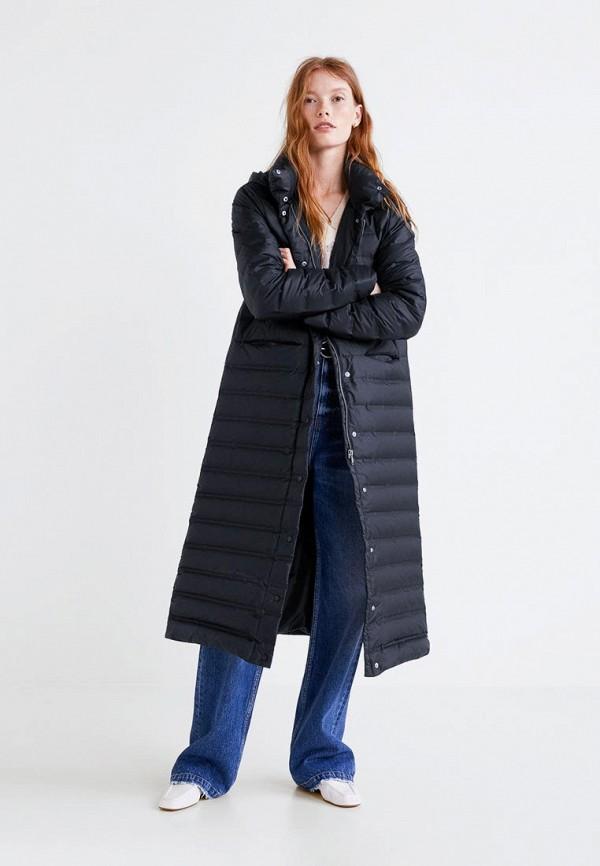 Купить Пуховик Mango, - BUDAPEST-S, MA002EWCBVN5, черный, Осень-зима 2018/2019