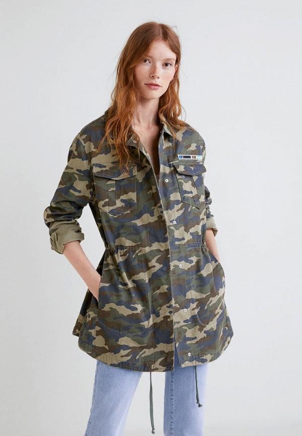 Купить Куртка Mango, - FURTIF, MA002EWCFMA6, хаки, Осень-зима 2018/2019
