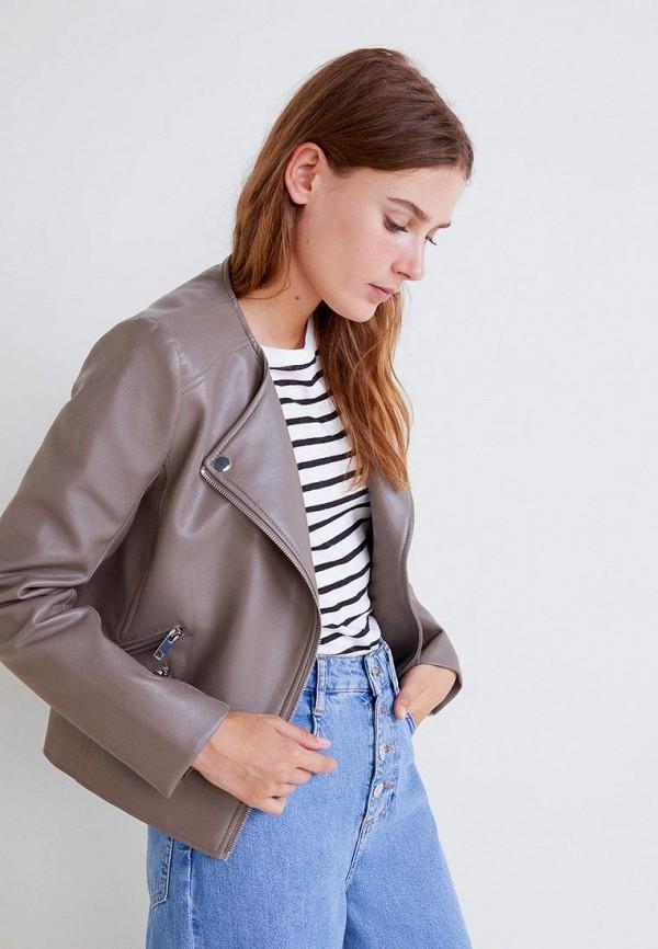 Купить Куртка кожаная Mango, - MARCMOTO, MA002EWCHNY2, бежевый, Осень-зима 2018/2019