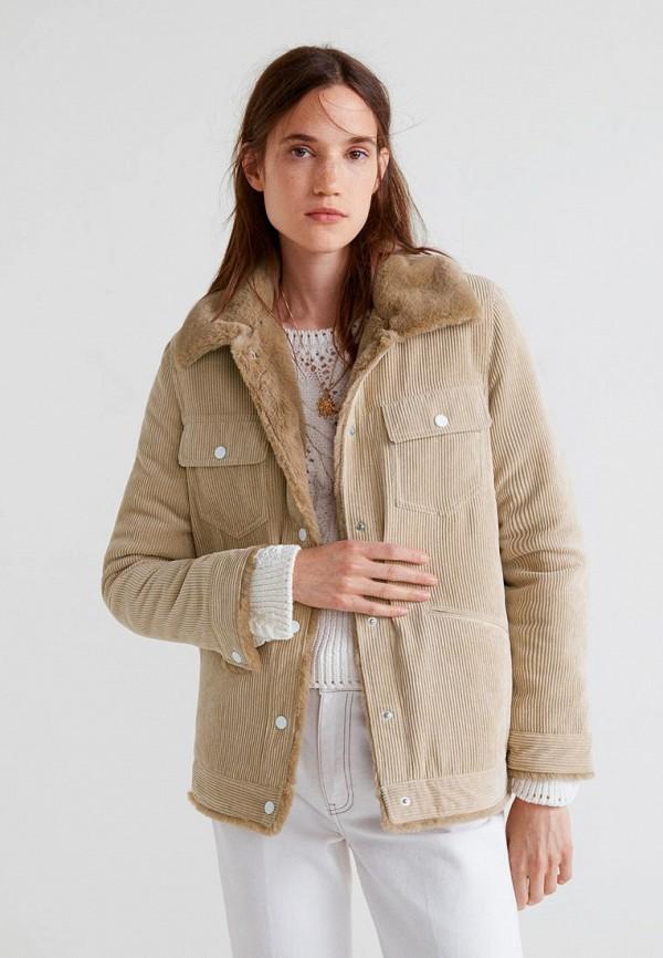 Купить Куртка утепленная Mango, - SCHOOL, ma002ewcily6, бежевый, Осень-зима 2018/2019