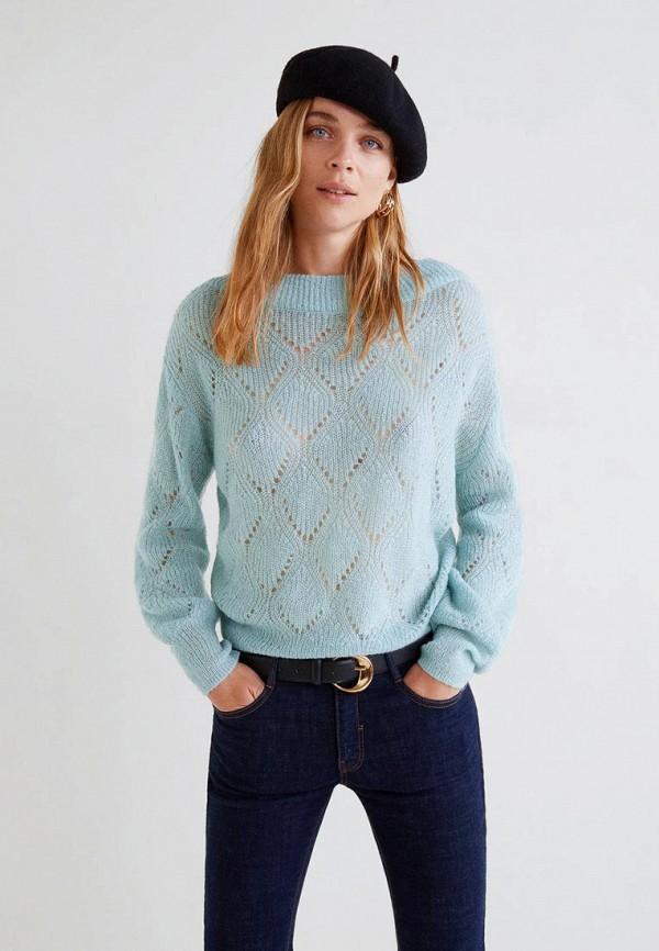 Купить Джемпер Mango, - MOHICANO, MA002EWCKIX1, голубой, Осень-зима 2018/2019