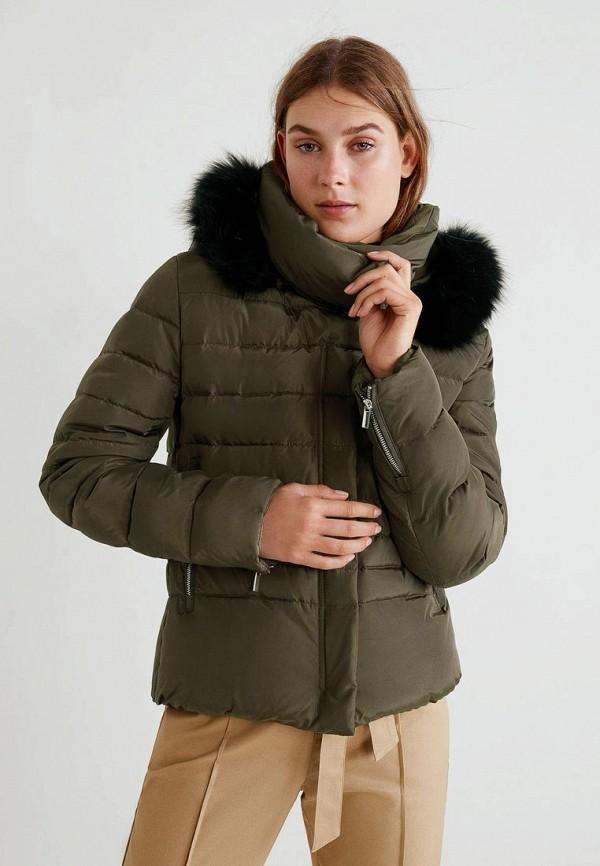 Купить Куртка утепленная Mango, - PARIS, MA002EWCMFA8, хаки, Осень-зима 2018/2019
