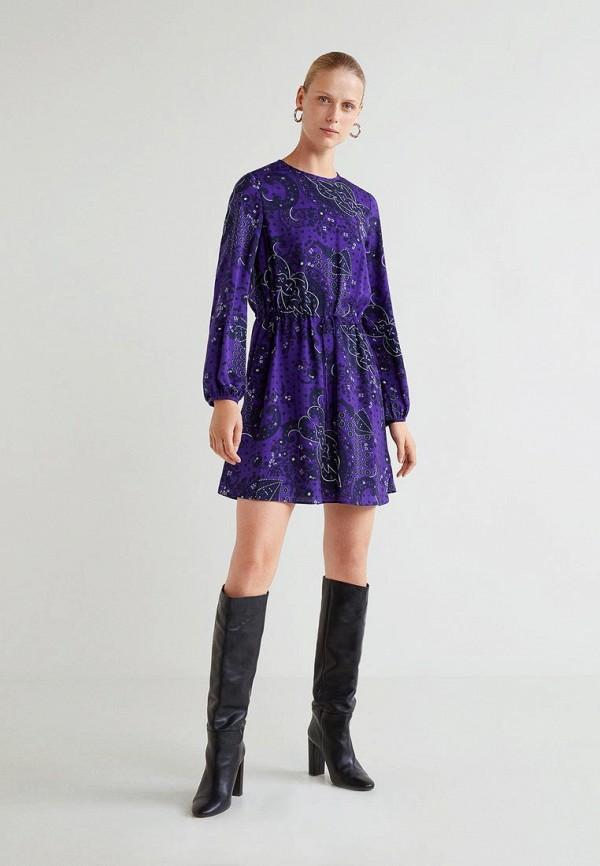 Купить Платье Mango, - BANDA, ma002ewcmfe2, фиолетовый, Осень-зима 2018/2019