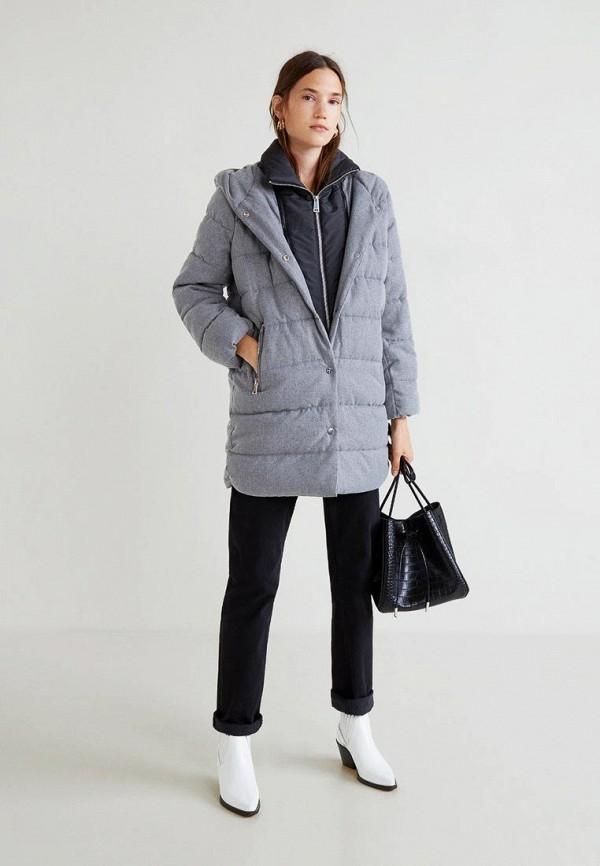 Купить Куртка утепленная Mango, - ELISABET, ma002ewcmfh9, серый, Осень-зима 2018/2019