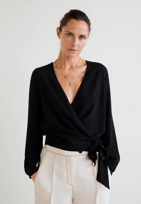 Купить Блуза Mango, - EMILE2, MA002EWCMFL5, черный, Осень-зима 2018/2019