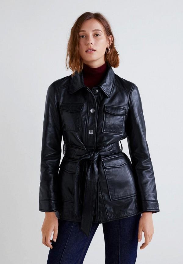 Купить Куртка кожаная Mango, - ALPHA-I, MA002EWCOCY5, черный, Осень-зима 2018/2019