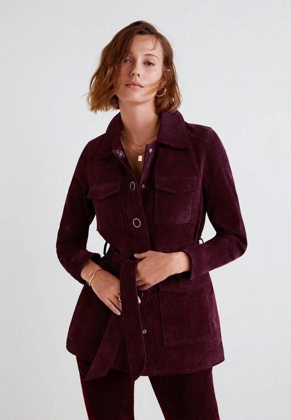 Купить Куртка кожаная Mango, - SEVENTY, MA002EWCQNR0, бордовый, Осень-зима 2018/2019