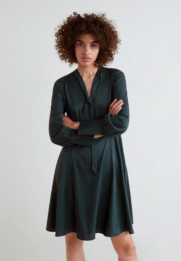 Купить Платье Mango, - ESPIGA, MA002EWCSLP4, зеленый, Осень-зима 2018/2019