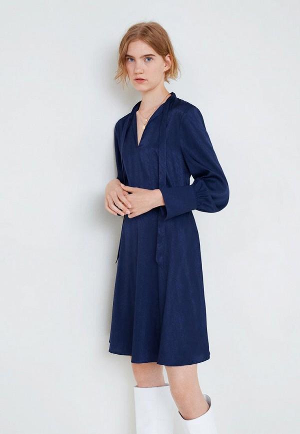 Купить Платье Mango, - ESPIGA, ma002ewcslq3, синий, Осень-зима 2018/2019