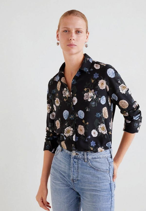 Купить Блуза Mango, - LAVANDA, ma002ewdakl2, черный, Осень-зима 2018/2019