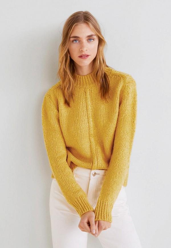 Джемпер  желтый цвета