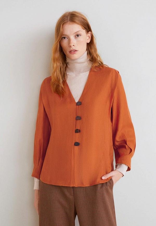 Купить Блуза Mango, - BEL, ma002ewdili0, оранжевый, Осень-зима 2018/2019