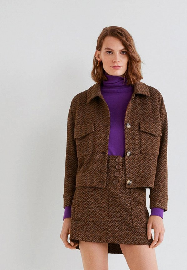 Купить Жакет Mango, - ESPIGA, ma002ewdilk1, коричневый, Осень-зима 2018/2019