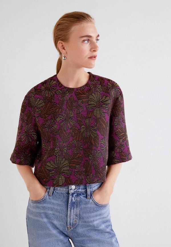Купить Блуза Mango, ma002ewdima4, фиолетовый, Осень-зима 2018/2019